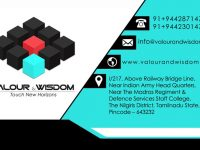 Valour And Wisdom Visiting Card